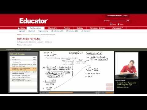 Trigonometry: Prove the Half Angle Formula