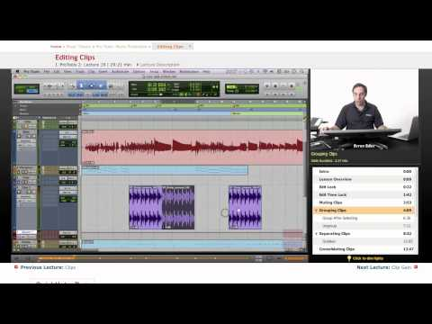 Pro Tools: Editing Clips