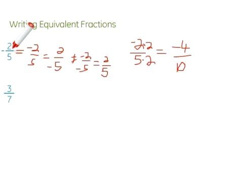 Writing Equivalent Fractions