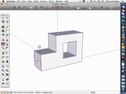 Sketch-Up Basics 6: How to rotate an object