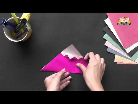 Origami - Let's learn to make a Cup Cake (HD)