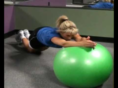 Roll Out on Resistance Ball Front : BeYourTrainer.com