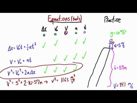 Picking the Right Tool Solution  - Intro to Physics - Motion - Udacity