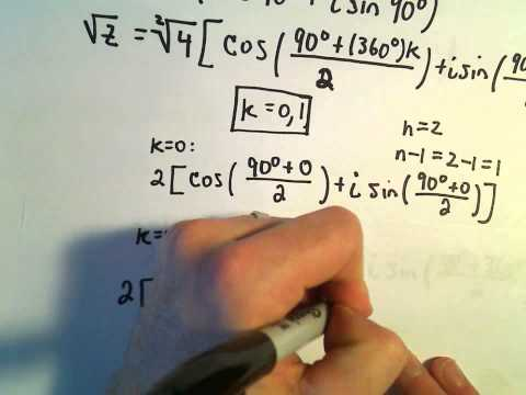 Roots of Complex Numbers, Ex 1