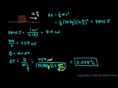 Physics 9.09i - Calorimetry Example 4