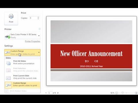 PowerPoint 2010: Printing