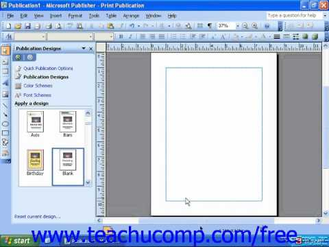 Publisher 2003 Tutorial Editing Personal Information 2000 2003 Training Lesson 1.13