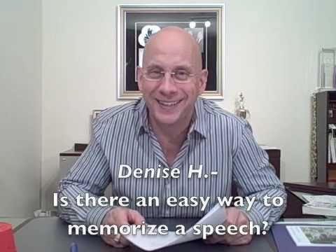 Presentation Answers with Darren LaCroix: How do you memorize a speech?
