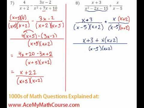 Rationals - Adding Rational Expressions Question #8