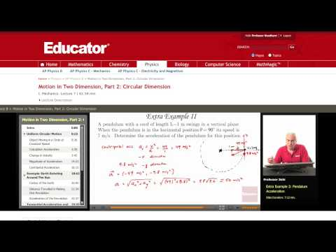 Physics: Pendulum Acceleration