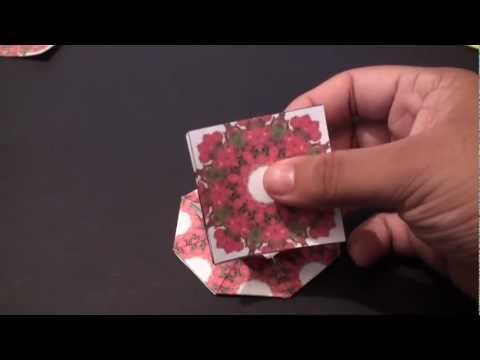 Popular Craft Projects - 003: Tea Bag Folding Sun Flower Coaster (Kite Fold) - TCGames [HD]