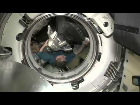 Soyuz Hatch Closes as Crew Readies for Home