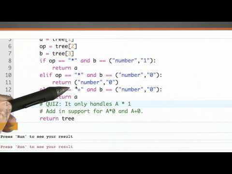 Optimization Phase Solution - CS262 Unit 6 - Udacity