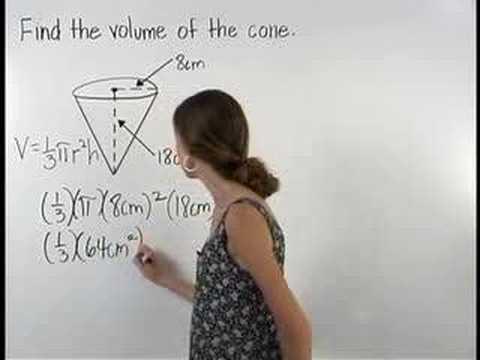 Volume of a Cone - YourTeacher.com - Math Help