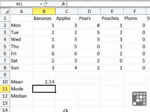 Useful Excel Functions for Averages MS Excel 2010 Tutorial