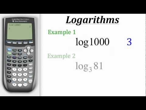 TI Calculator Tutorial: Logarithms