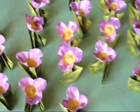 Single origami flowers