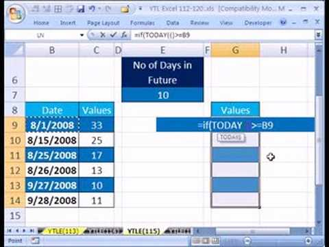 YTL Excel #115: Time Delayed Formula TODAY & IF functions