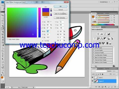 Photoshop Tutorial The Color Replacement Tool Adobe Training Lesson 5.5