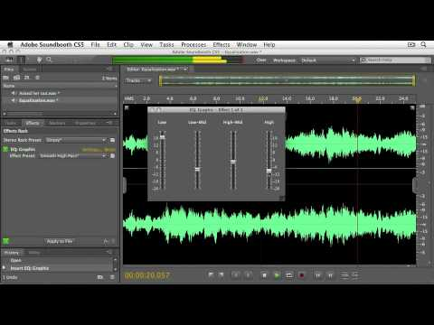 Soundbooth cs5 Using the Graphic EQ Effect  EFFECTS PROCESSING