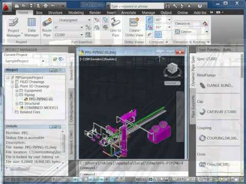 New Features in AutoCAD Plant 3D 2012