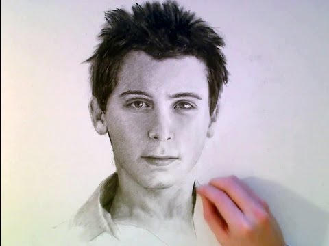 REESE CHARCOAL PORTRAIT - traditional art Speed Drawing