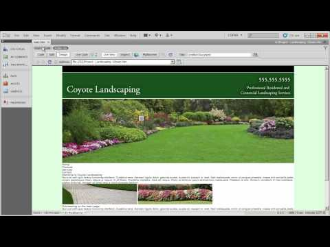 Setting up layout and formatting CSS (2) - Coyote Landscaping - Part 11