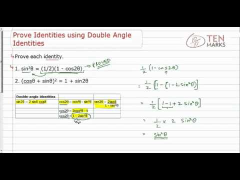 Prove Identities with Double-Angle Identities