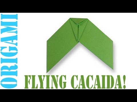 Origami Daily - 311: Flying Cacaida (Kids Origami) - TCGames [HD]