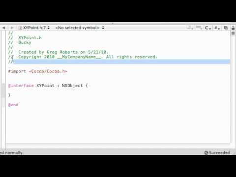 Objective C Programming Tutorial - 34 - Creating a Point class