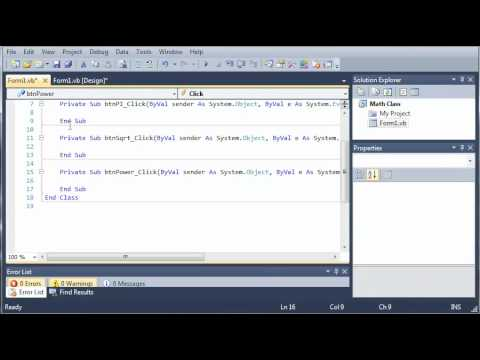 Visual Basic Tutorial - 52 - Math Class