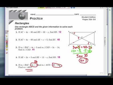 Viewer Challenge: Diagonals & Angles of a Rectangle 2