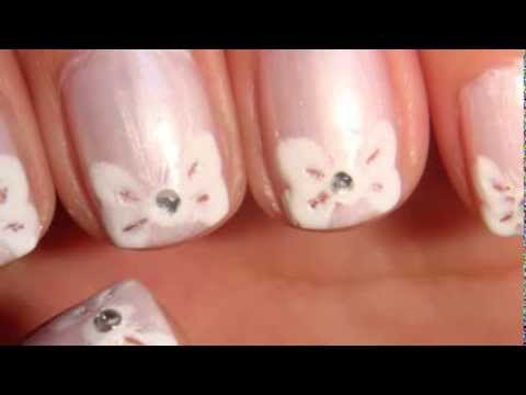 Romantic Bow Tip Design Simple Tutorial For Short Nails