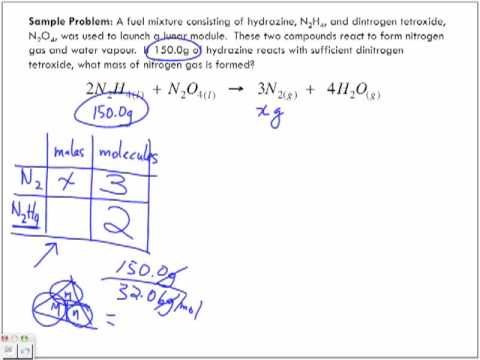 Stoichiometry Sample Problems Part 4