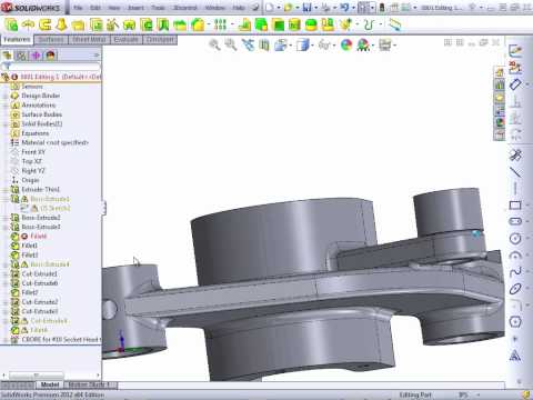 Solidworks 2012 Tutorial | Editing Part 1/2