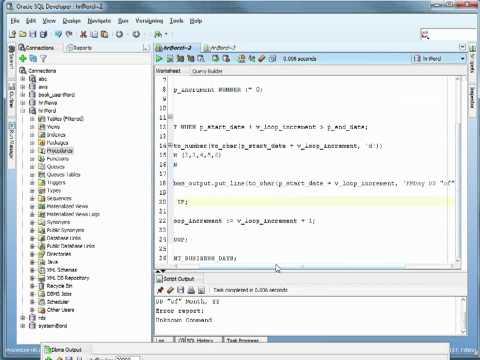 Oracle PL/SQL Tutorial -  Loops Part 1