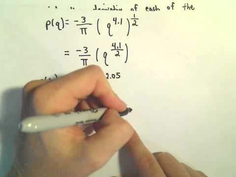 Power Rule and Derivatives, A Basic Example #1