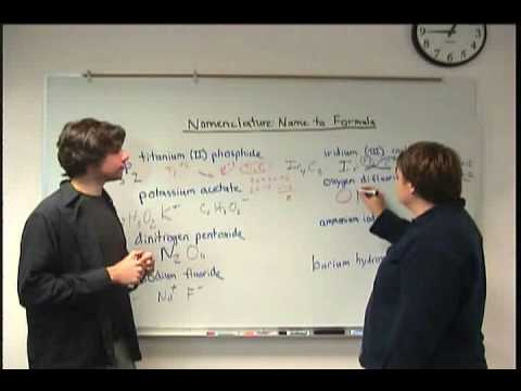 Nomenclature Name to Formula Part Two