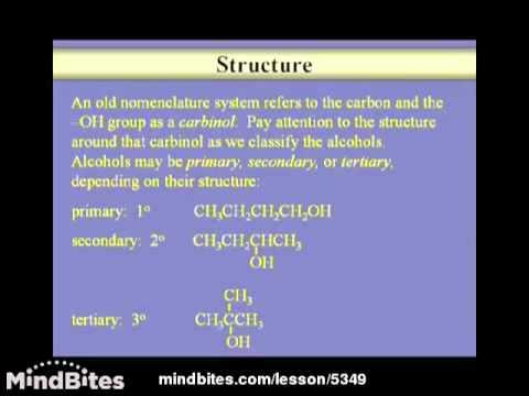 Organic Chemistry Lesson: Alcohols 1