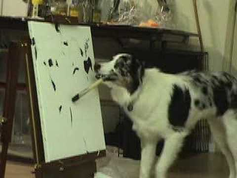Self-proclaimed canine artist!