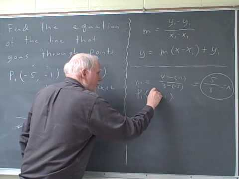 Precalculus Ma112: Equations of lines Section 1.7