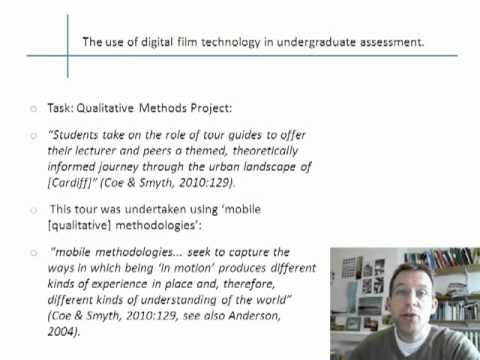 Use of Digital Film Technology in University Teaching