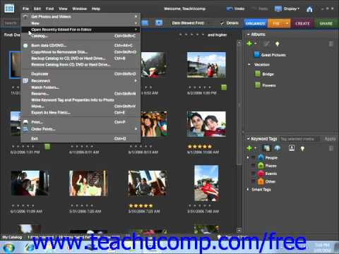 Photoshop Elements 9.0 Tutorial Naming Images Adobe Training Lesson 2.11