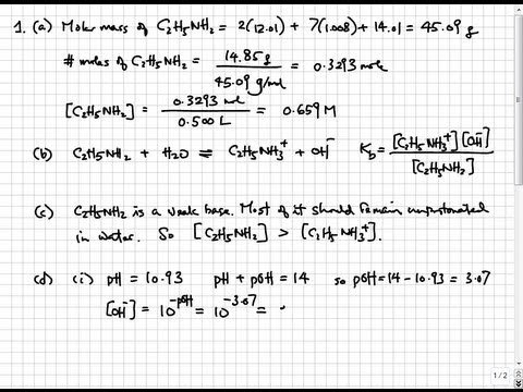 Solutions to 2010 AP Chemistry Exam Free Response Questions | College & AP Chemistry Solutions 11
