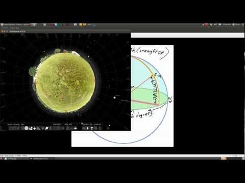 Stellarium for solar cooker aiming
