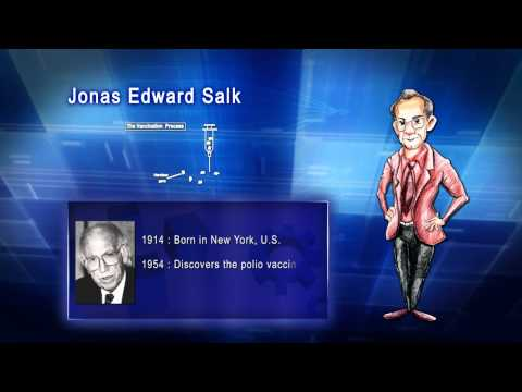 Top 100 Greatest Scientist in History For Kids(Preschool) - JONAS EDWARD SALK