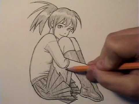 Pretty Pose, Mellow Music (Time Lapse Drawing)