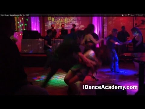 Salsa Bloopers-Guy Drops Salsa Partner On Her ASS