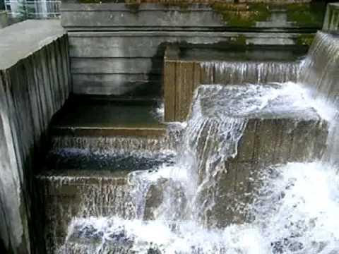 Waterfalls in Freeway Park, Seattle, Washington