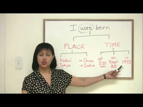 Speaking English - How to talk about your birthplace and birthday